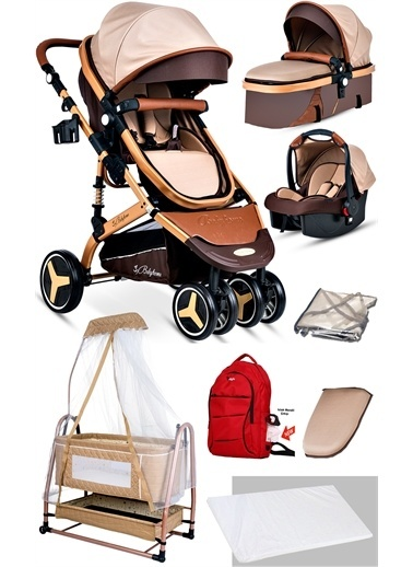 Baby Home Baby Home 945 Travel Sistem Bebek Arabası Ve 505 Bebet Sepeti Anne Yanı Beşik Renkli